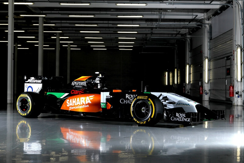 Sahara Force India F1 VJM07 bok
