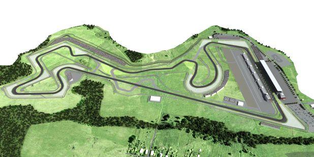 Moscow Raceway Moskwa mapa