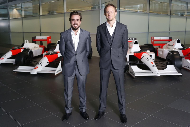 McLaren prezentacja kierowców 2015 02 Alonso Button