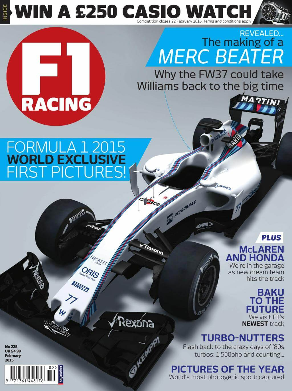 Williams FW37 2015 F1 racing