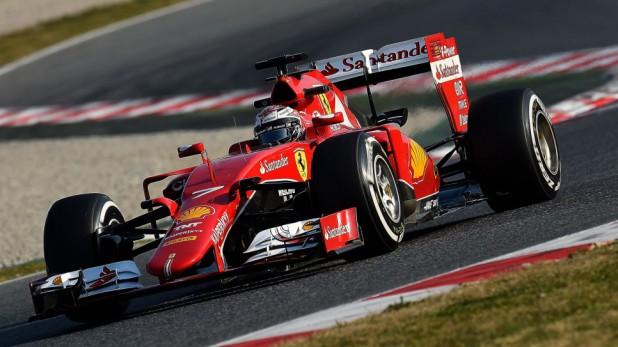 Raikkonen Ferrari SF15-T 2015 Barcelona Testy
