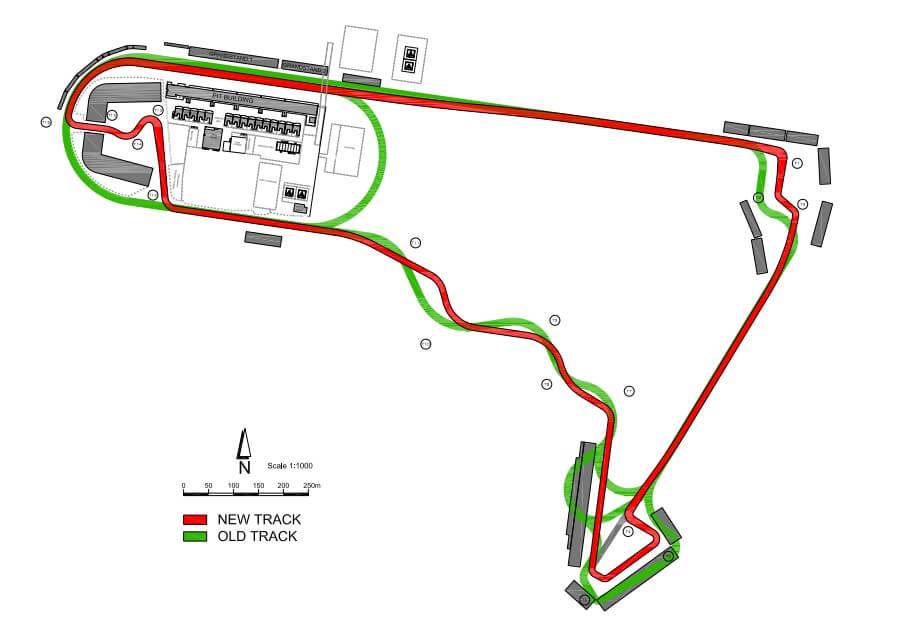 Meksyk Autodromo porównanie układu toru