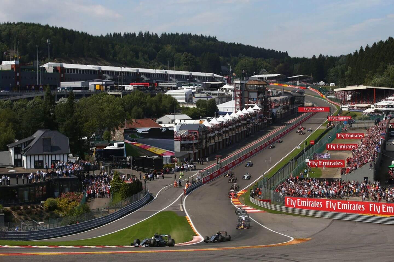 Belgia Spa 2015 Hamilton Start