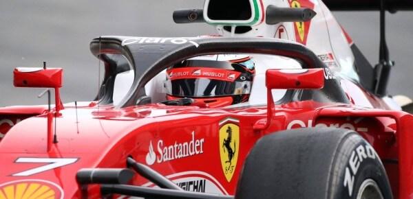 Kokpit 2016 testy Halo aureola Ferrari