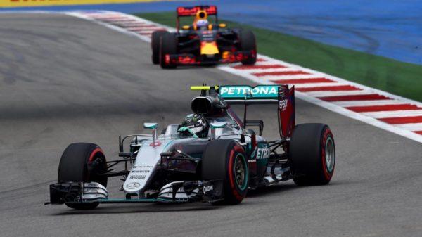 Rosberg Mercedes 2016 Soczi Rosja